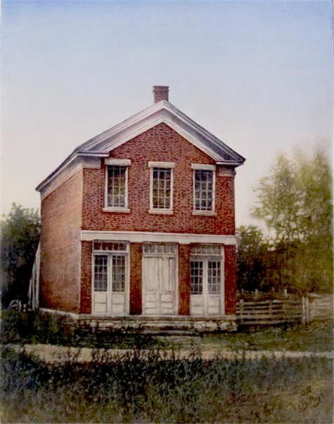 Picture of Red Brick Store In Nauvoo