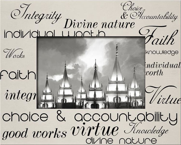 Picture of Young Women Values Printed Mats (B&W)