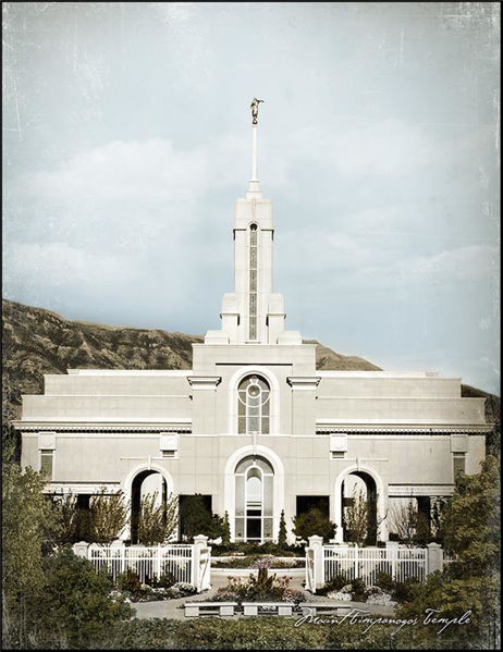 Picture of Mount Timpanogos Aged Color