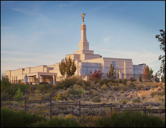 Picture of Reno Temple With Fence