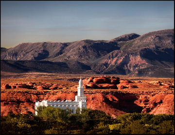 Picture of St. George Temple Evening