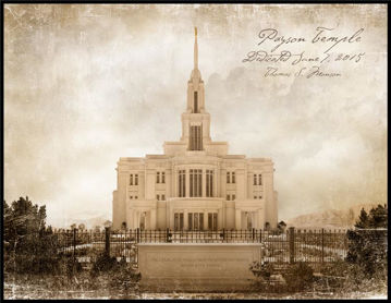 Picture of Payson Temple Vintage