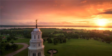 Picture of Nauvoo, Sunglow On The Mississippi