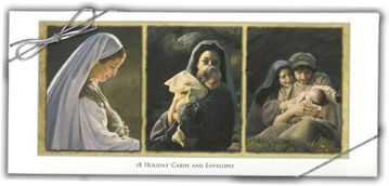 Picture of Triptych Christmas Cards 9.25 X 4 18-Pack