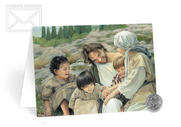 Picture of Let The Children Come Folding Card 5 X 7