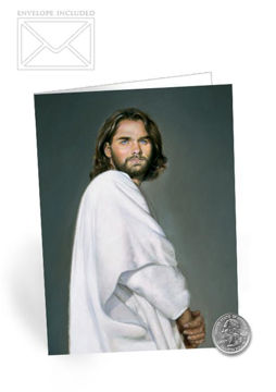 Picture of Jesus Folding Card 5 X 7