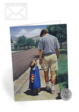 Picture of Even Superman Needs A Dad Folding Card 5 X 7