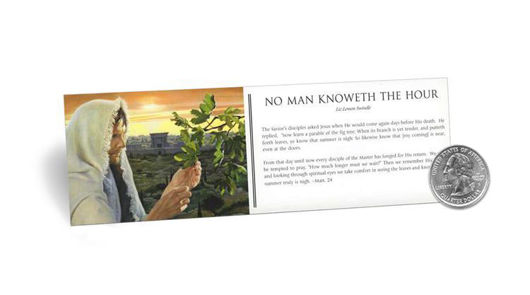 Picture of No Man Knoweth The Hour Bookmark 2 X 7