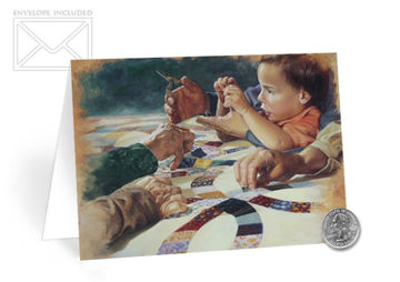Picture of Hands Of Time Folding Card 5 X 7