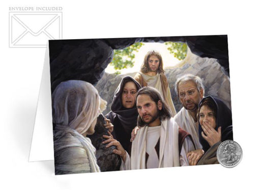 Picture of I Am The Resurrection Folding Card 5 X 7