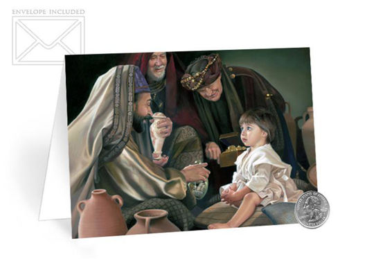 Picture of The Holy Men Christmas Card  7 X 5 50-Pack