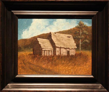 Picture of The Old Homestead Original Oil on Board 18 X 14