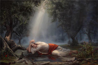 Picture of Gethsemane Open Edition Giclée On Canvas 18 X 12