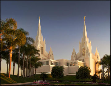 Picture of San Diego Temple Sunset