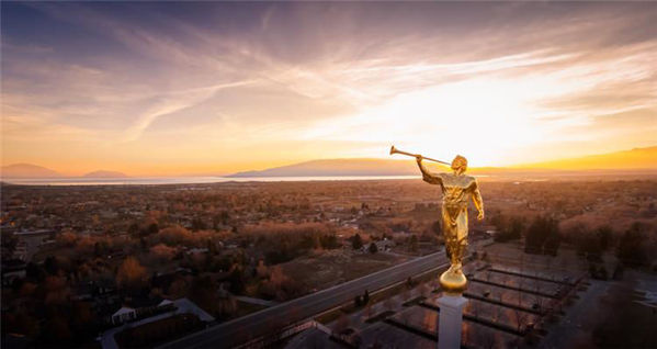 Picture of Angel Moroni - Mt. Timpanogos