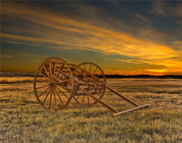 Picture of Handcart At Sunset