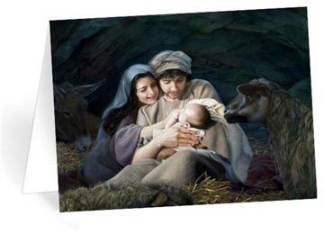 Picture of Silent Night Open Edition Christmas Card on Paper 5 X 7