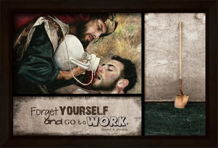 Picture of Forget Yourself And Go To Work Open Edition Print
