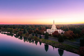 Picture of Idaho Falls - Snake River Reflection Aerial