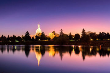 Picture of Idaho Falls Snake River Reflection