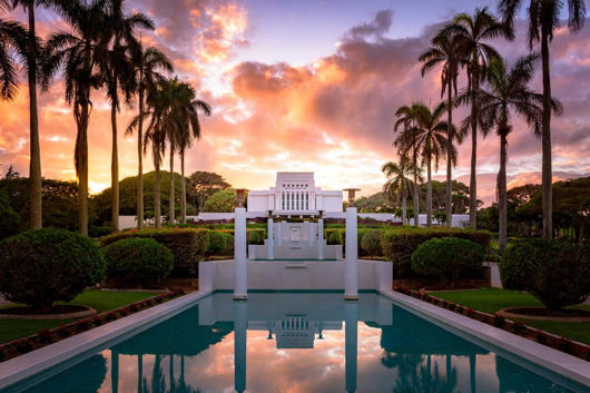 Picture of Laie Fountain Sunset