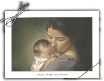 Picture of Swaddling Antiqued Christmas Cards 7 X 5 18-Pack