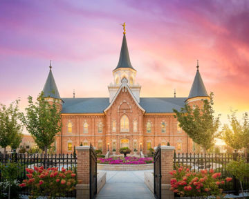 Picture of Provo City Center Gates to Heaven