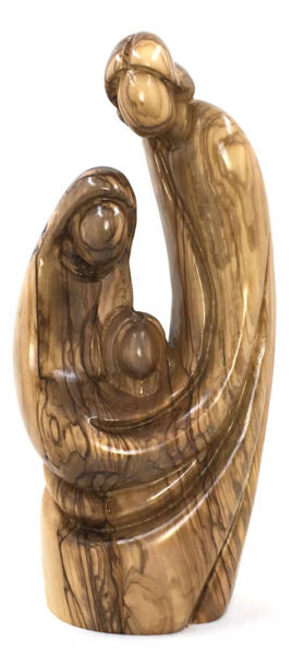 """Picture of Arms of Love Olive Wood Nativity 8"""" Tall"""