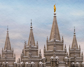 Picture of Salt Lake Temple Winter Ramparts