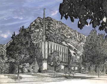 Picture of Provo Utah Temple - Blue Sky