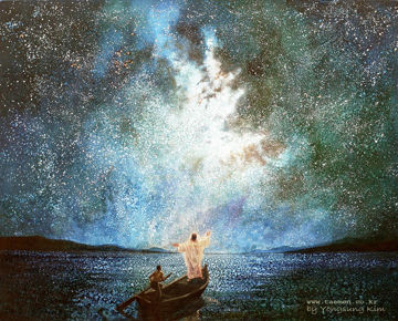 Picture of Calm and Stars Original Oil on Canvas 63 3/4 X 51 1/4