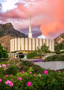 Picture of Provo Temple - Summer Sky