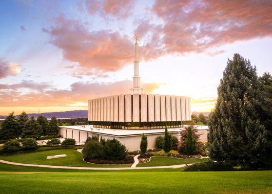 Picture of Provo Temple - Sunset Serenity