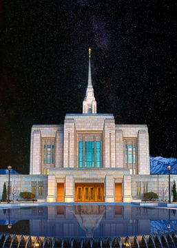 Picture of Ogden Temple Milky Way