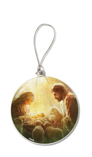 Picture of Immanuel Glass Christmas Ornament