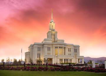 Picture of Payson Temple Glory in Stages