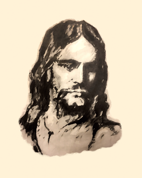 Picture of The Christ (Filtered Pencil)