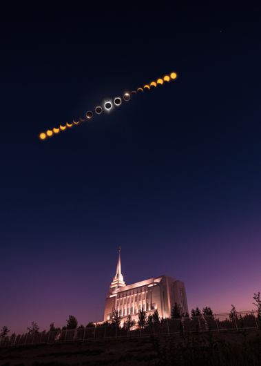 Picture of Rexburg Eclipse Phases