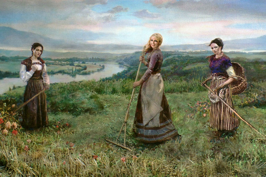 Picture of Three Sisters - Sad, Glad and Mad