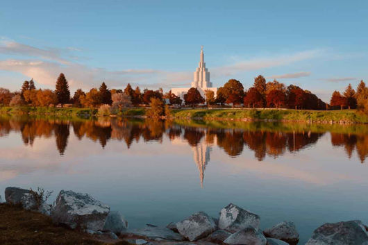 Picture of Idaho Falls Sunset on the River