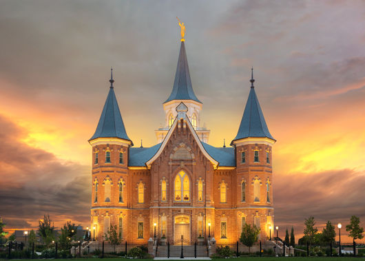 Picture of Provo City Center Temple Burning Sky