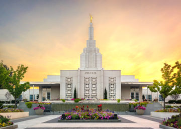 Picture of Idaho Falls Temple Summer Glow