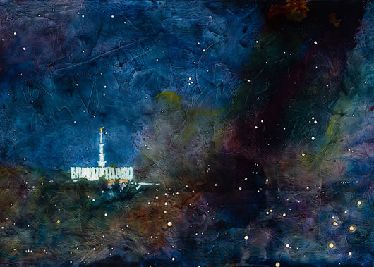provo temple a pillar of fire by night by liz lindsay