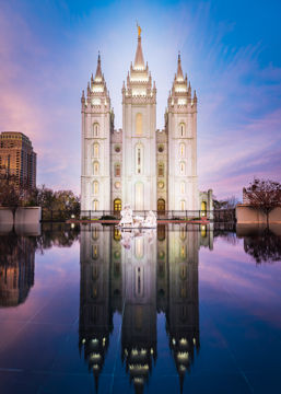 Picture of Salt Lake Temple All is Still