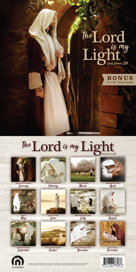 Picture of 2019 The Lord is My Light Scott Sumner Calendar