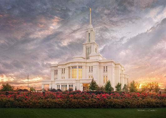 Picture of Payson Temple September Sunset