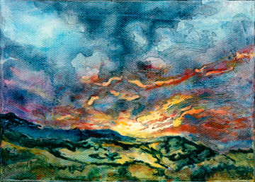 mountain sunset by liz lindsay