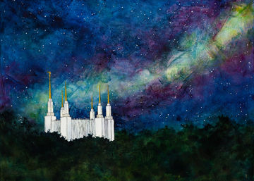 washington dc temple a light on a hill by liz lindsay