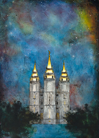 salt lake temple polaris by liz lindsay