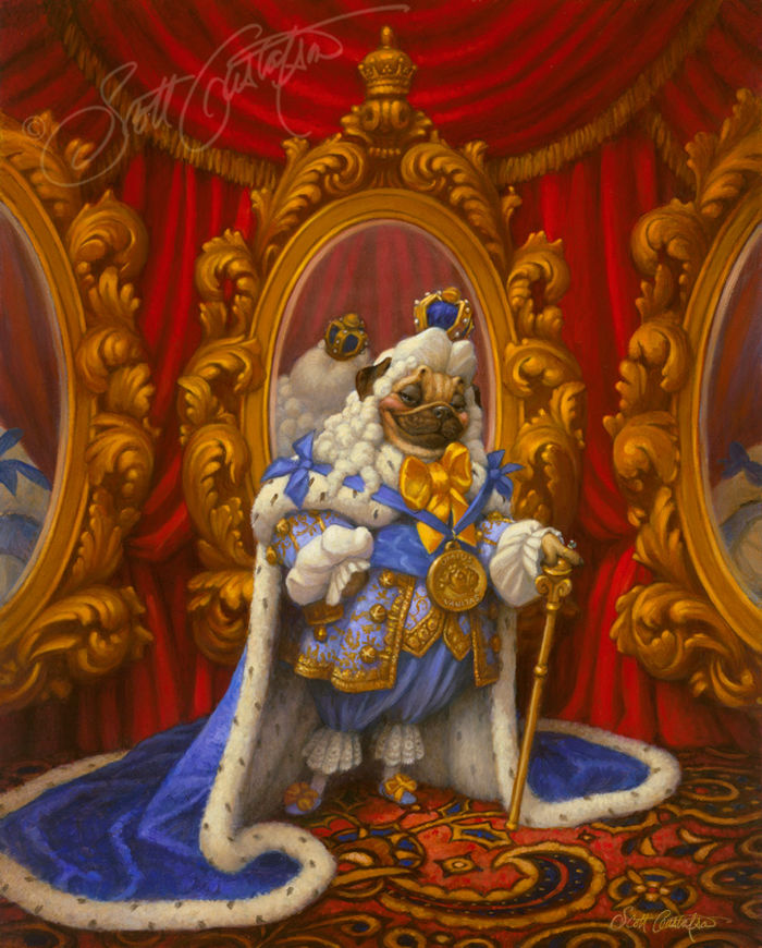 Picture of The Emperor Loved New Clothes Original Oil on Panel 16 X 20